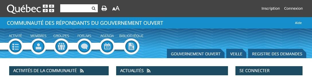 PCG - Communauté du Gouvernement Ouvert